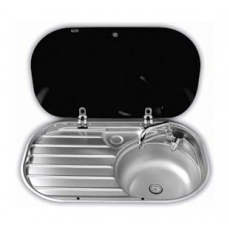 Smev 8306 Stainless Steel Sink and Drainer with Lid