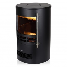 Elmswell 2kW Round Contemporary Flame Effect Stove