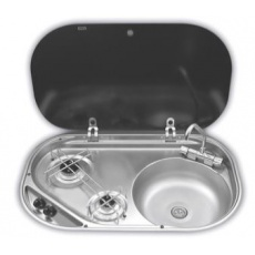 Smev Series MO8322 Sink with 2 Burner Hob