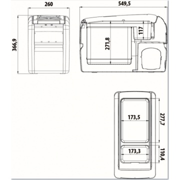 dometic coolfreeze cf 16 compressor cooler portable. Black Bedroom Furniture Sets. Home Design Ideas